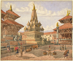 The centre of Patan (Nepal) with the temple of Krishna 2852